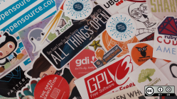 Stickers from all different open source projects and communities