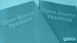 Open source yearbook cover 2015 blue