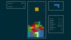 Linux toy: tetris