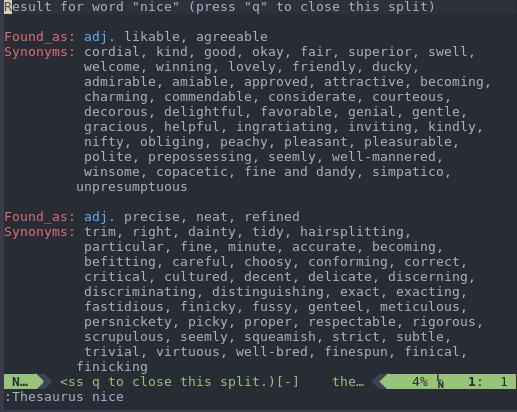 Thesaurus plugin