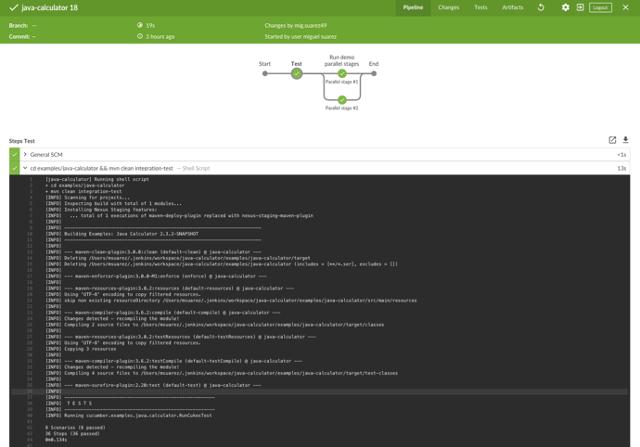 Cucumber report data