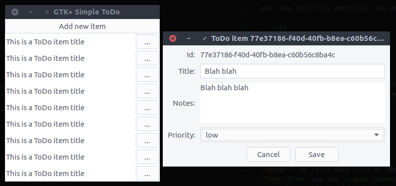 View todo items