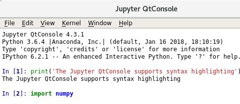 Jupyter QtConsole