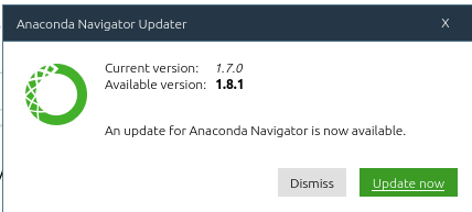 Anaconda update screenshot