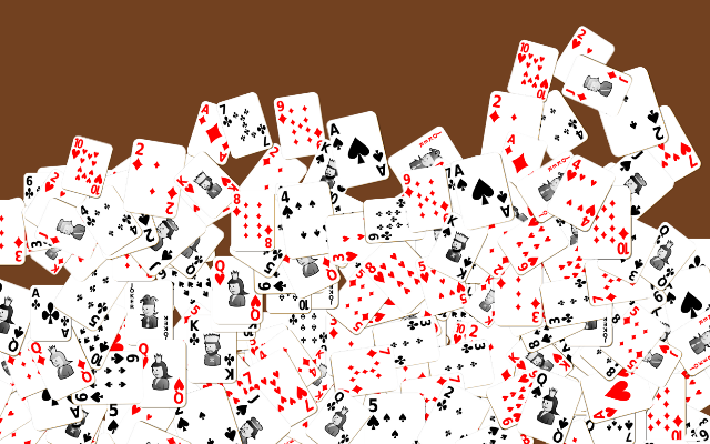 Playing card brush