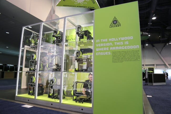 LulzBot booth at CES 2018