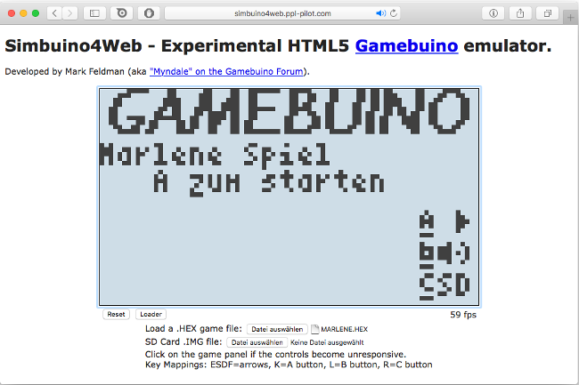Gamebuino emulator in the browser