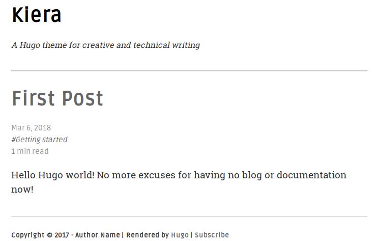Hugo blog