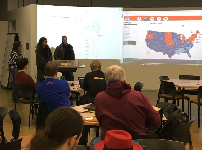 RIT election night hackathon kickoff