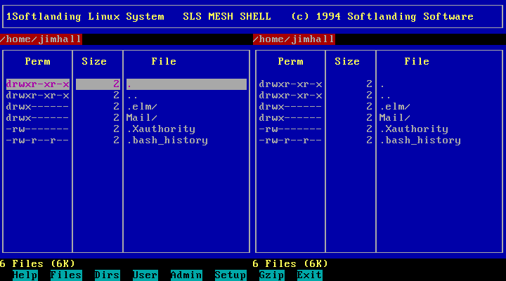 The Softlanding menu shell (MESH)