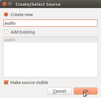 Add audio source