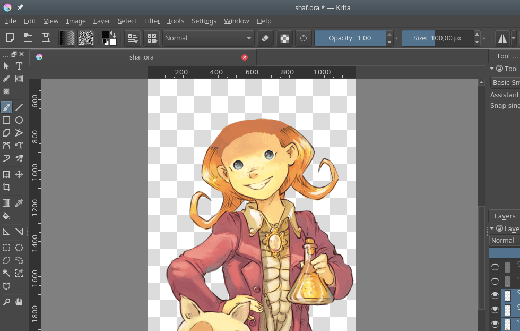 Work-in-progress screenshot of Krita
