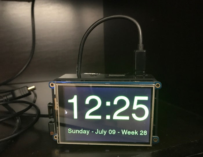 Raspberry Pi clock