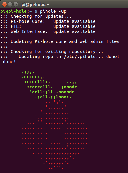 Updating pi-hole