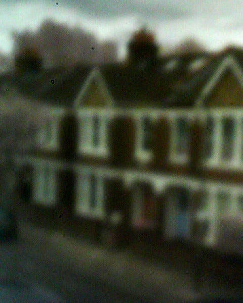 Picture of houses taken with pinhole webcam