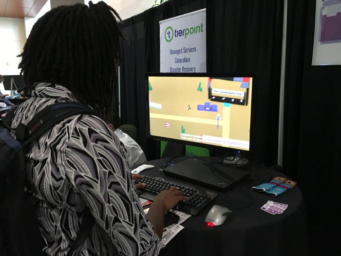 Person playing Retro Daddy