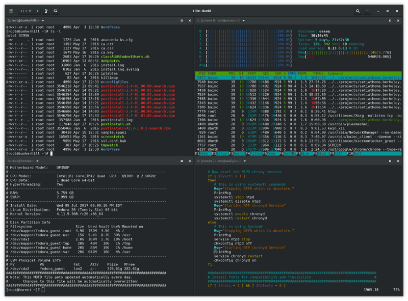 Tilix terminal emulator window.