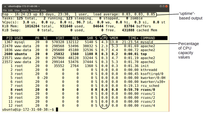Tips for top: Monitoring CPU load on Linux | Opensource com