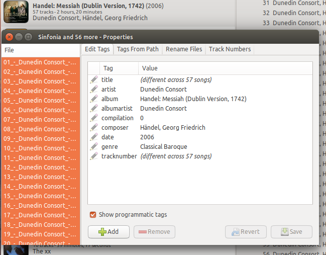 Updating tags in Quod Libet