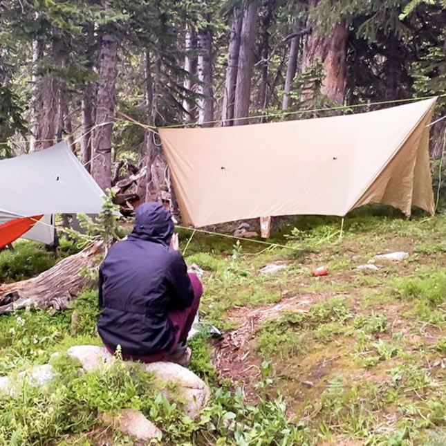 An open source rain tarp from Hummingbird Hammocks