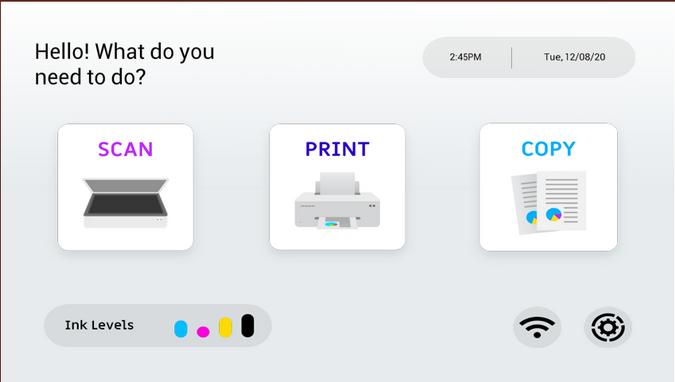 printer init screen