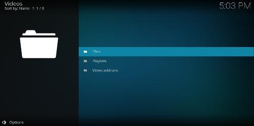 Kodi videos folder