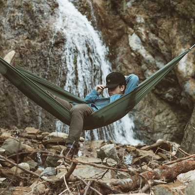 An open source hammock from Hummingbird Hammocks.
