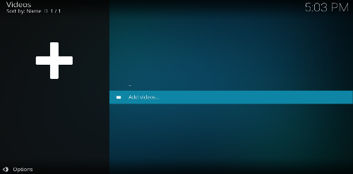 Add videos in Kodi