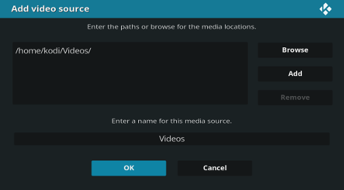 Add Kodi video source