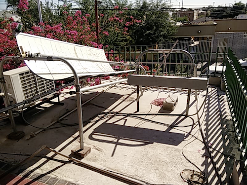 An open source solar water heater from the Anisa Foundation.