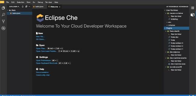 Eclipse Che interface