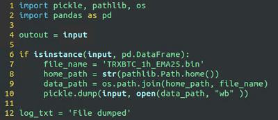 Dump extended DataFrame to file