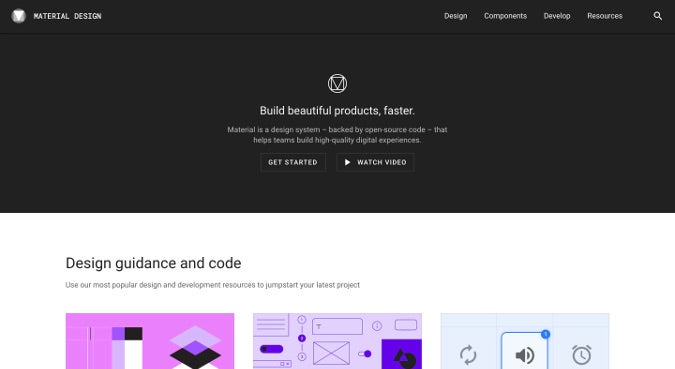 Material Design homepage