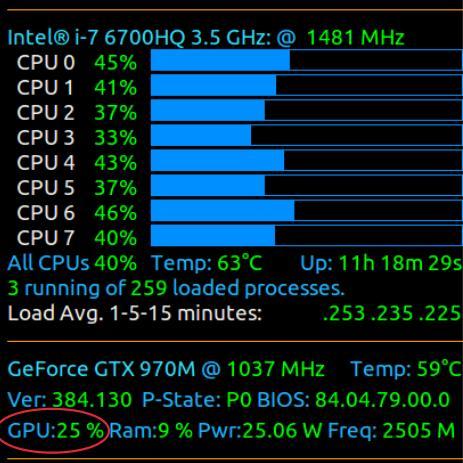 Conky CPU and GPU monitoring