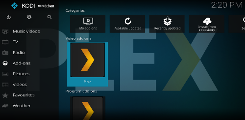Accessing Plex in Kodi