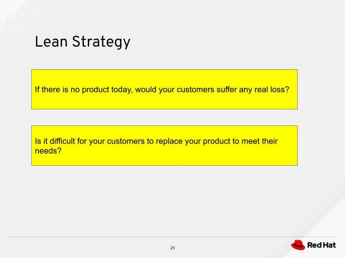 Lean strategy questions