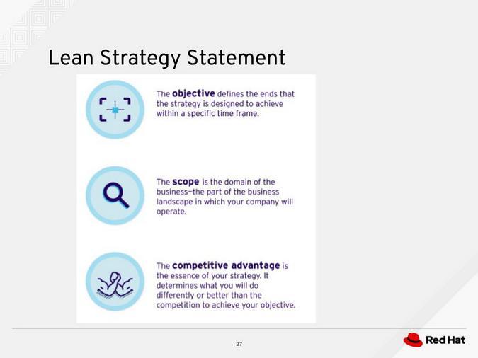 Lean strategy statement