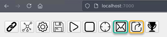 Pythonic trading output buttons
