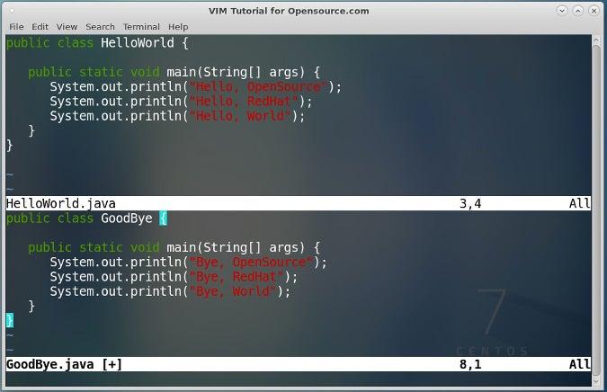 Modify GoodBye.java file in Split Mode