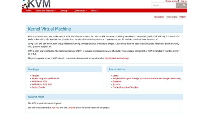 KVM website