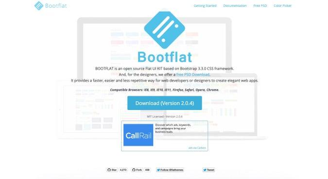 Bootflat homepage