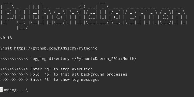 PythonicDaemon console interface