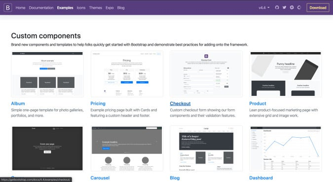Bootstrap examples