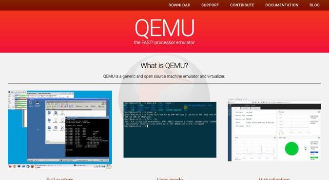 QEMU website