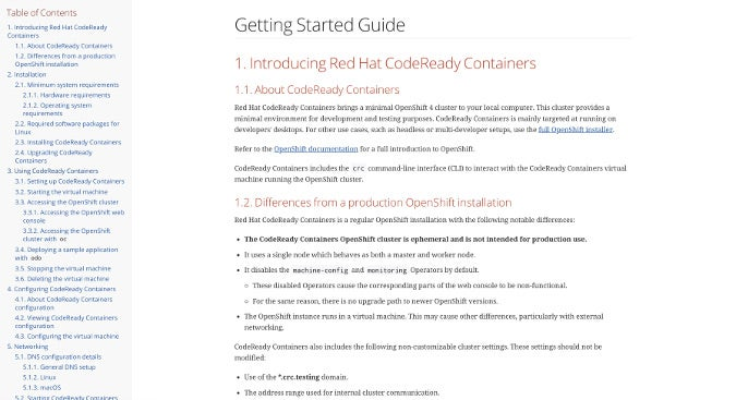 CodeReady Container