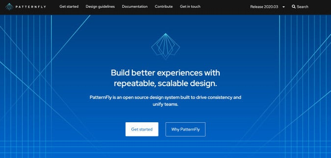 PatternFly homepage