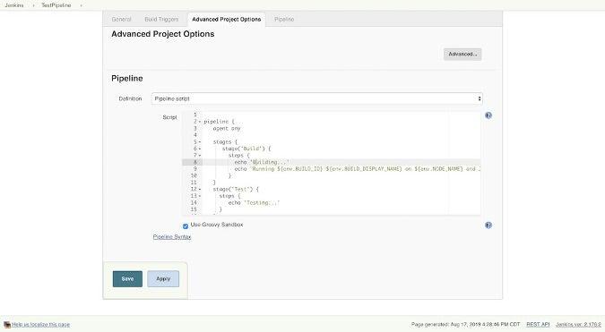 Configure to Run as Jenkins Script
