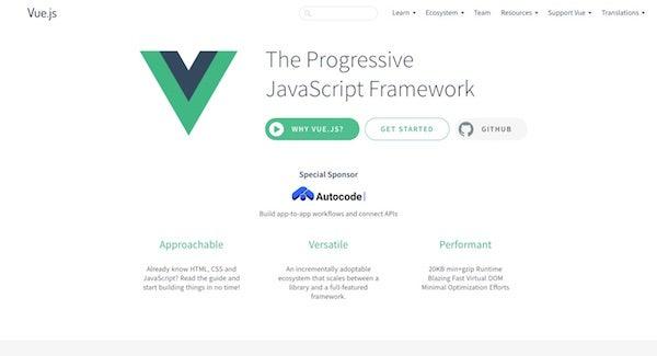 Vue JS page
