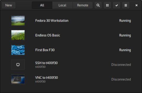 Displaying boxes in list view