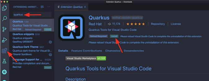 Add Quarkus tools to VS Code IDE